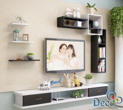 Kệ tivi treo tường Deco TV73 phong cách tân cổ điển giá rẻ